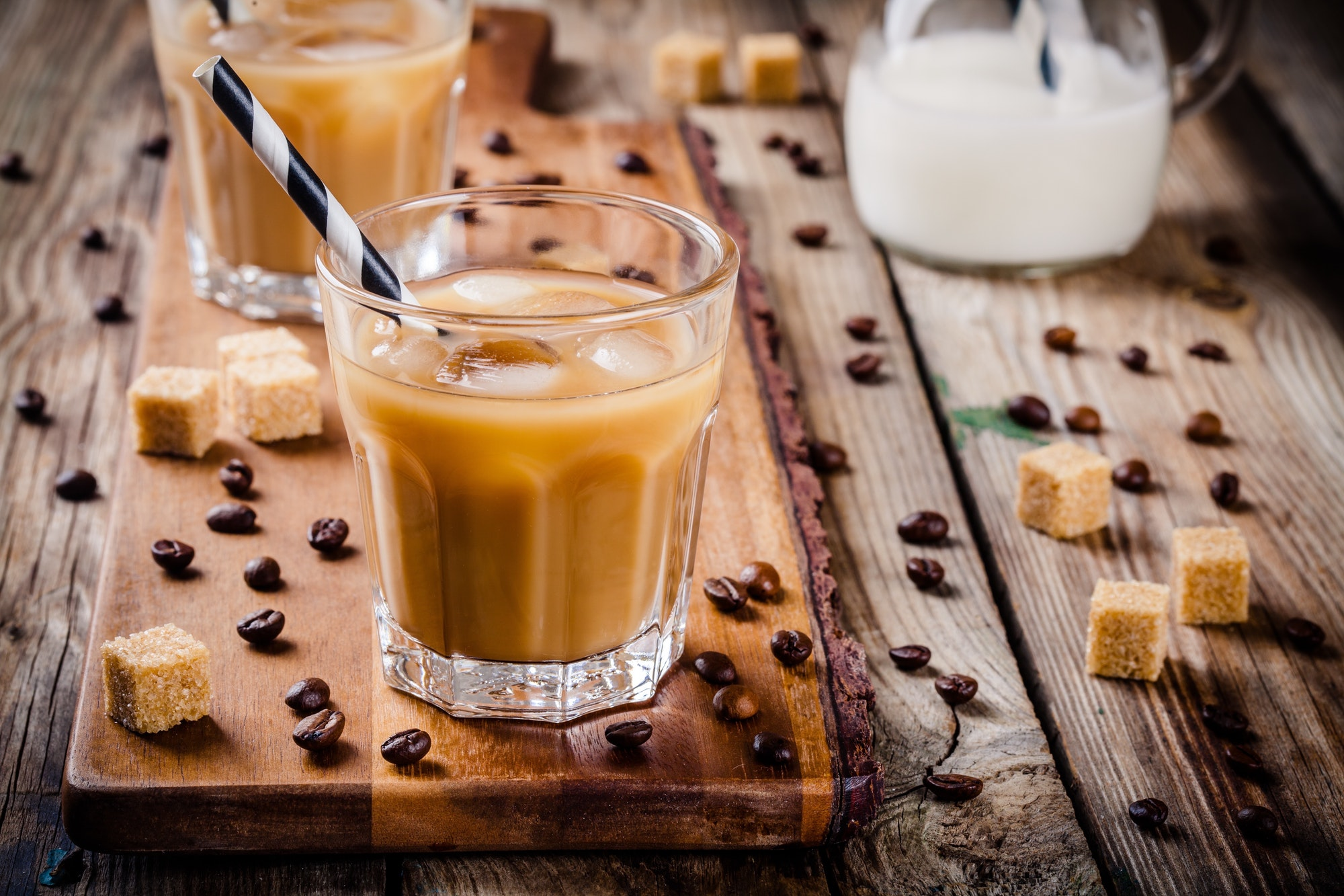 Iced coffee in glass